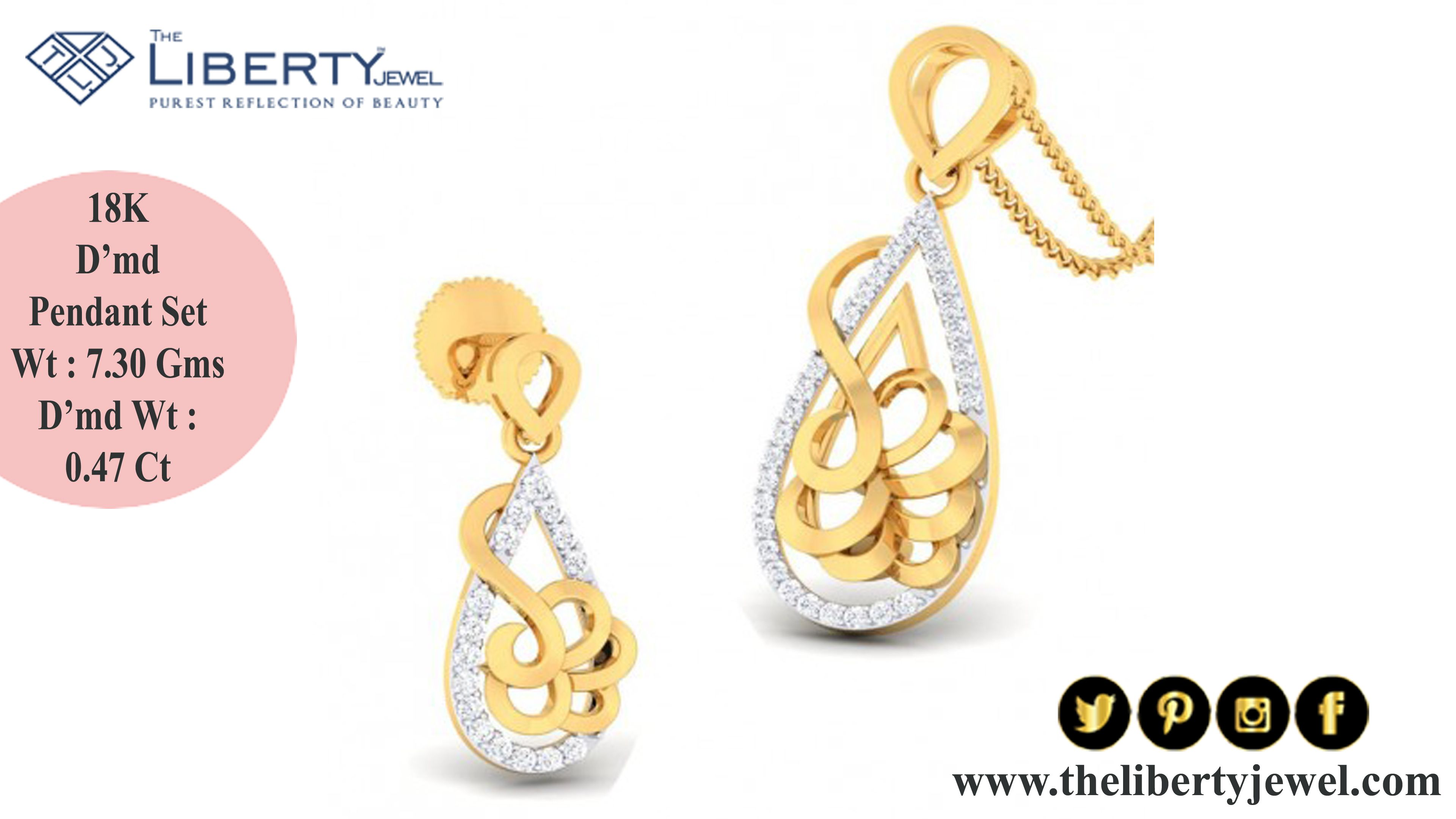 Special limitless diamond pendant set collection of jewellery for