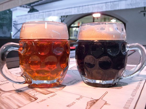 Pivo! What, you thought we'd talk Czech food without mentioning beer? Impossible! Pivo, or beer, and Prag...