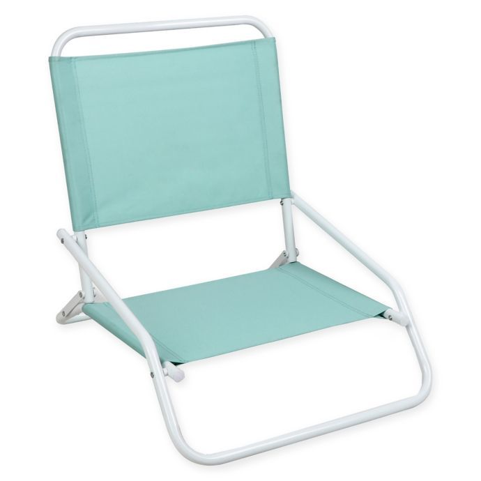 Astounding 1 Position Beach Chair In Blue Bed Bath Beyond Ibusinesslaw Wood Chair Design Ideas Ibusinesslaworg