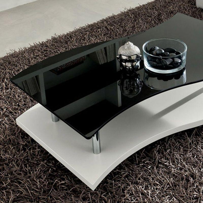 Table Basse Moderne Bicolore En Verre Gaia Table Basse Moderne Table Basse Table
