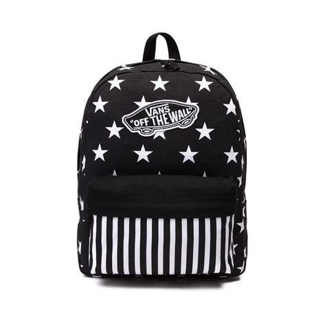 Shop for Vans Stars & Stripes Backpack in Black White at Journeys ...