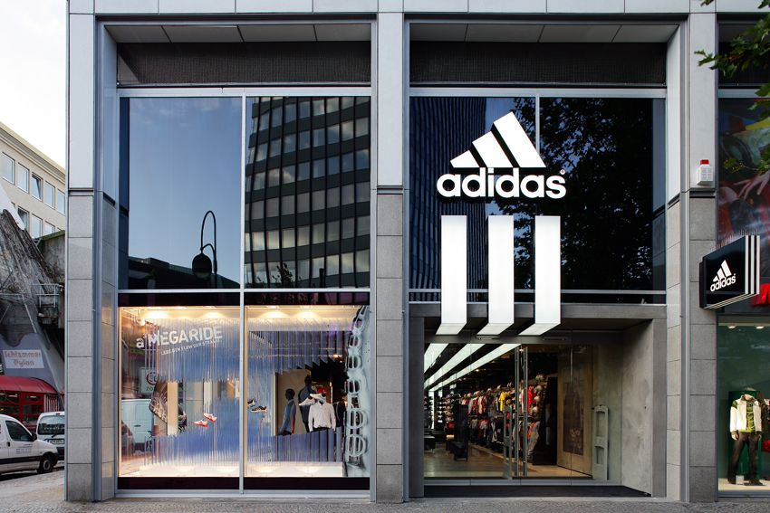 Adidas store exterior google search project adidas for Retail store exterior design