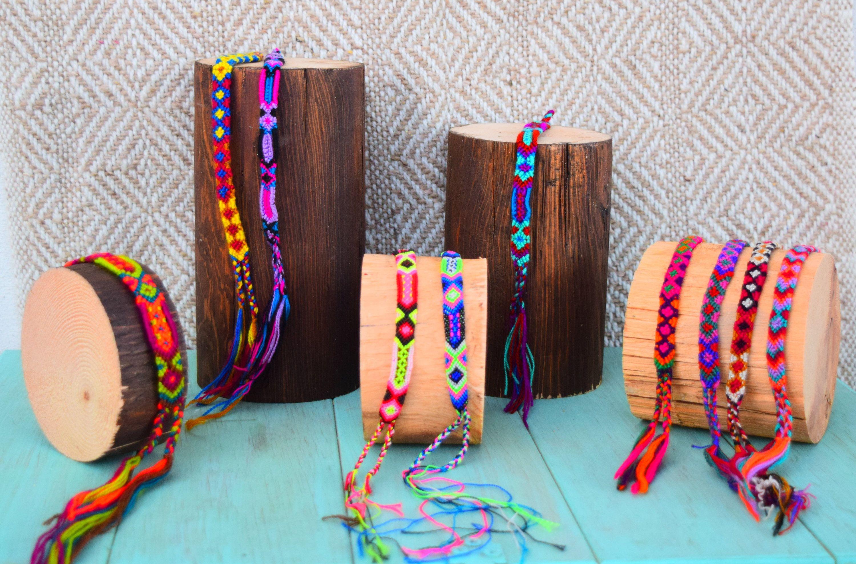 e7439f5d6c96 Set 3 pieces/Mexican Woven Bracelets / Bracelets / Colorful ...