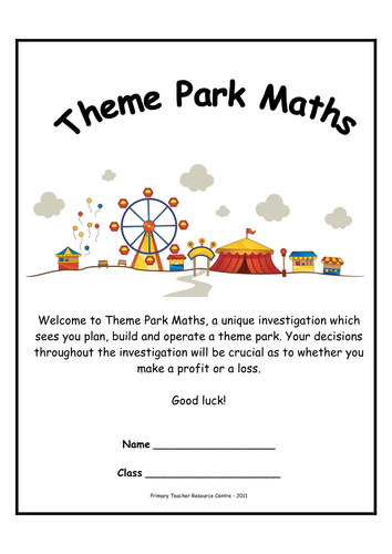 Theme Park Maths Investigations | Primary: Best Reviewed | Pinterest ...