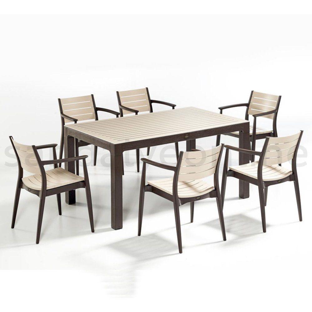 regnum 6 1 masa ve sandalye seti dis mekan mobilyalari dekor sandalye