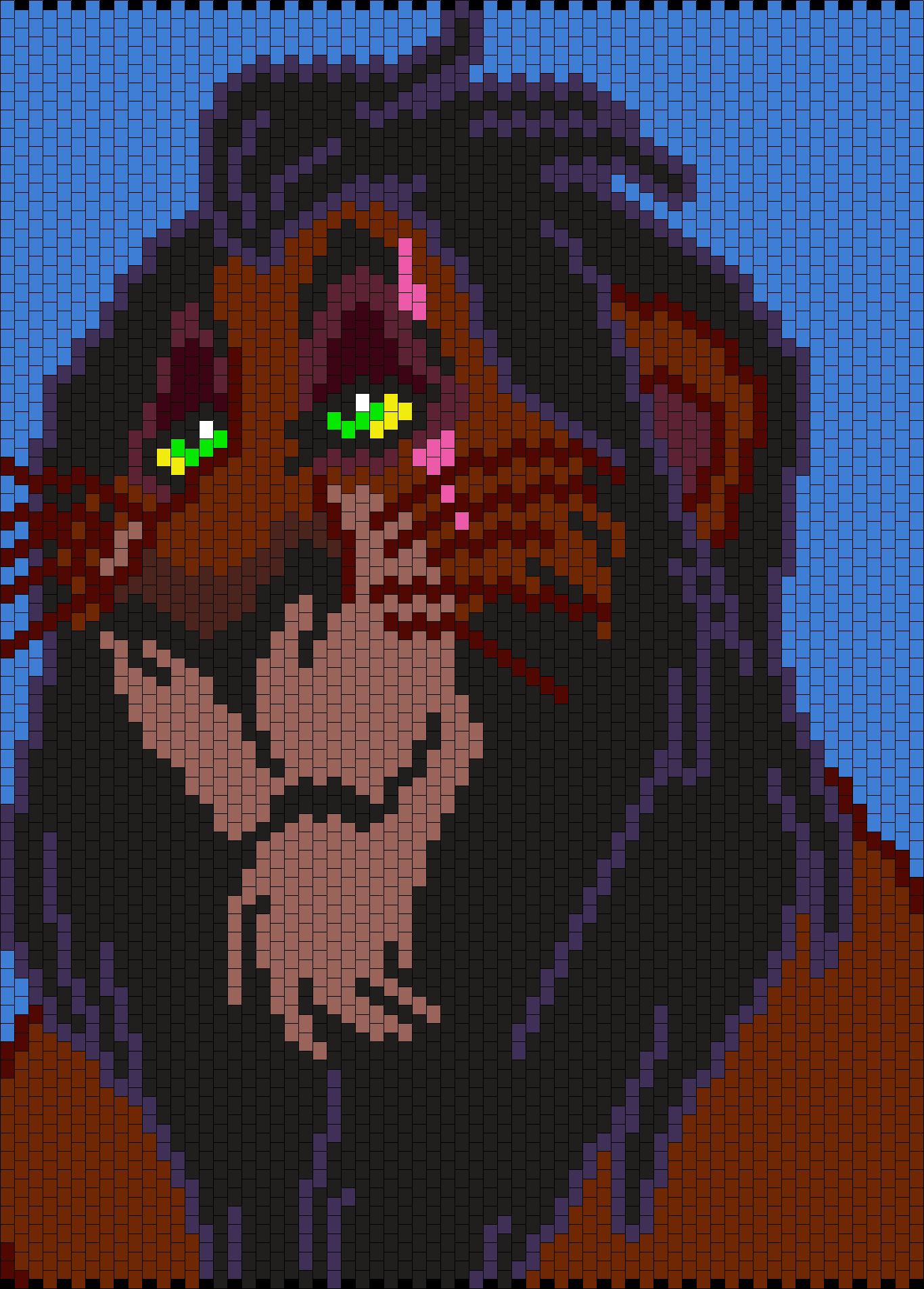 Scar From Lion King (Multi) Bead Pattern   Bead patterns   Pinterest ...