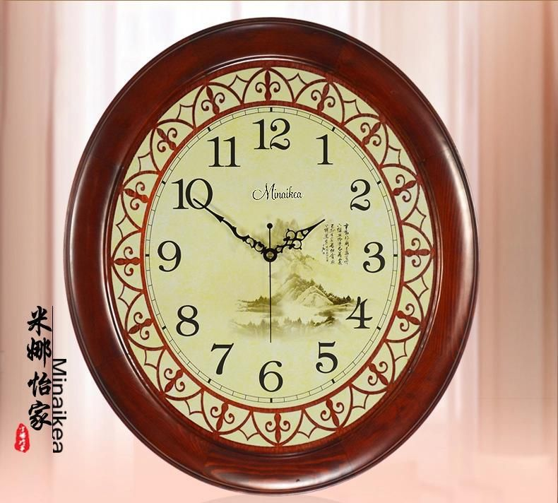 Chinese style fashion Large antique wall clock modern classical mute ...