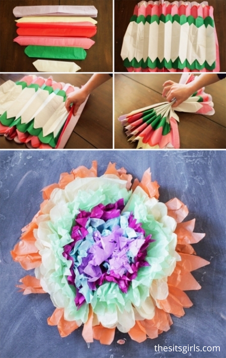 Tissue Paper Flower Puffs Pinterest Tissue Paper Scissors And