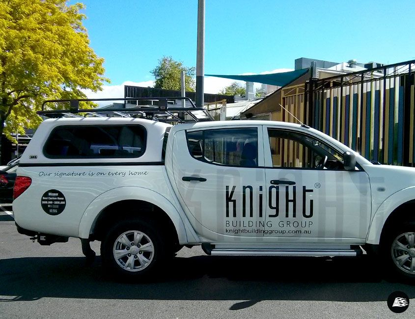 White Triton Ute Vehicle Decals Vehicle Wrap Melbourne