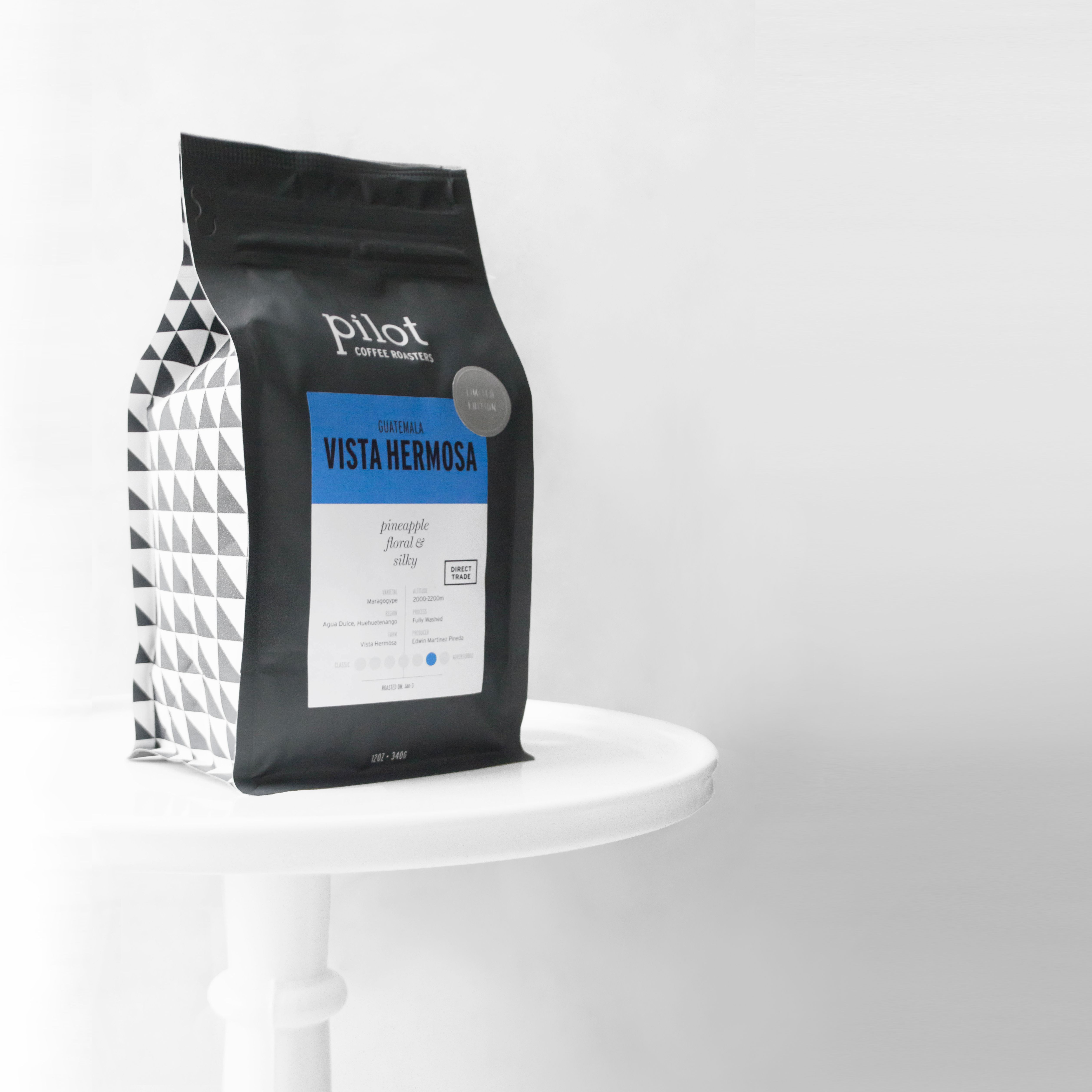 Coffee packaging by pilot coffee roasters coffee