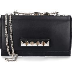 Photo of Valentino handbag Gwb00975 calfskin studs gold logo black Valentinovalentino