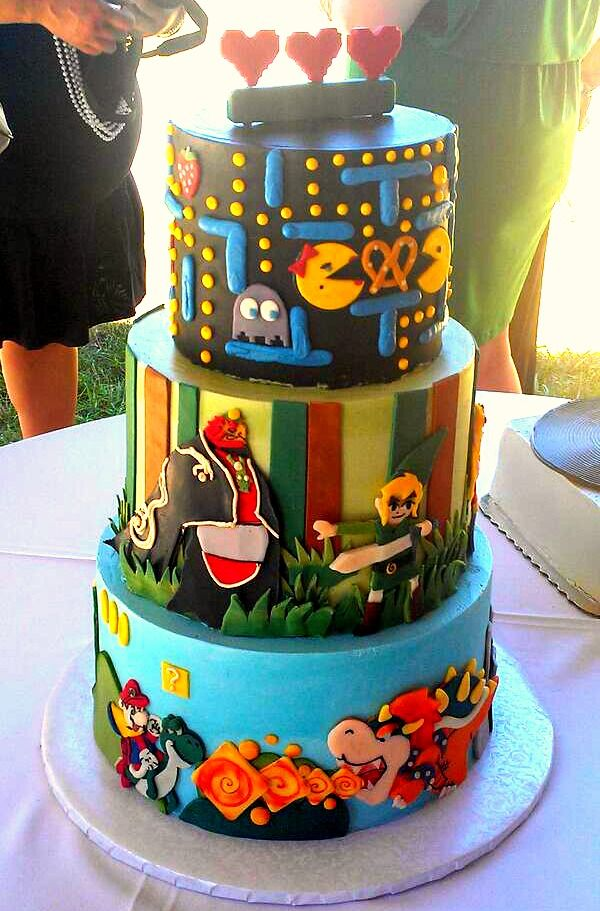 deco gateau jeux video