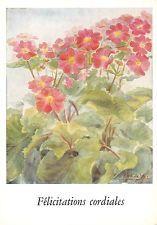 Primula's Naar een origineel met de mond geschilderd door Riek de Vos Primeveres
