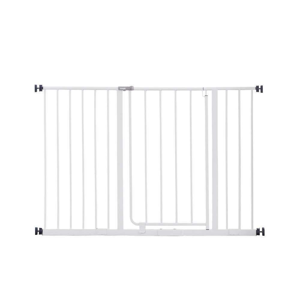 Regalo 30 Metal Easy Open Extra Wide Walk Through Gate 1185 Ds Metal Baby Gate Baby Gates Portable Play Yard