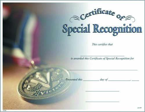 Blank Certificate to Fill In Certificate of Special - first place award template