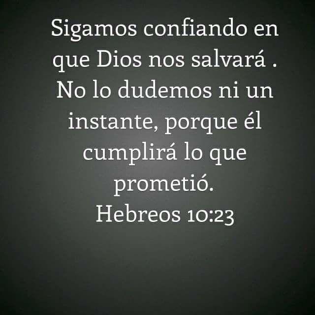 Hebreos 10:23