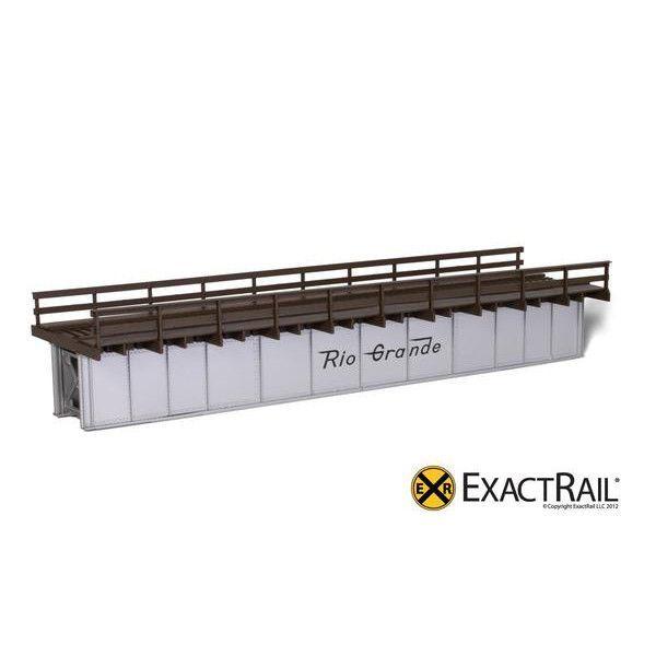 HO Scale: 72' Deck Plate Girder Bridge, Wood Handrails - DRGW