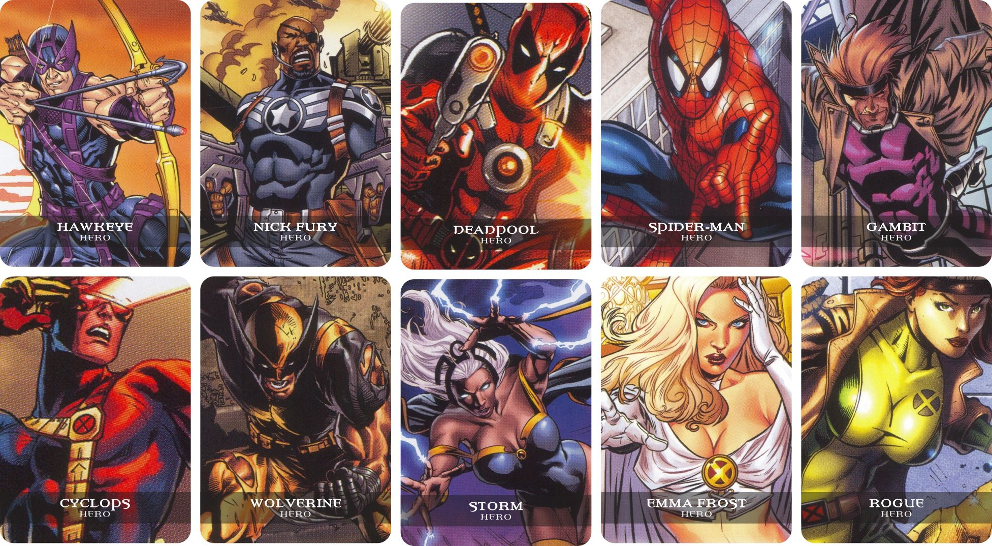 My Home Made Randomizer Cards For Legendary A Marvel Deck Building Game Few More Heroes Building Games Marvel Board Games