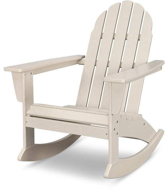 Polywood Vineyard Adirondack Rocking Chair Plastic Rocking Chair