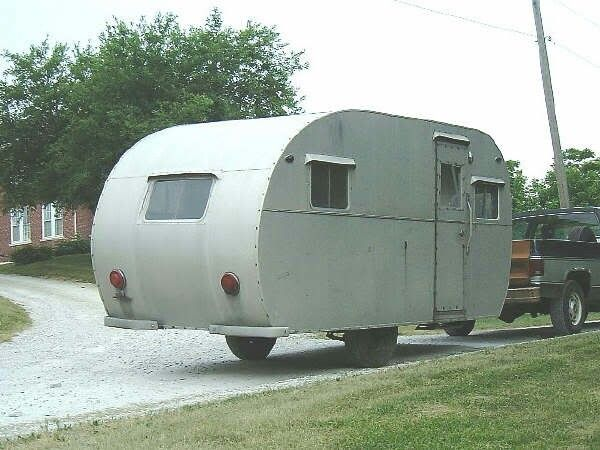 1948 Mobile Sportsman Trailer Vintage Camper Vintage Rv