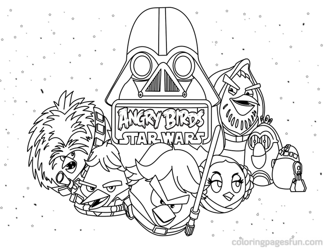 Angry Birds Star Wars Coloring Pages 9 800