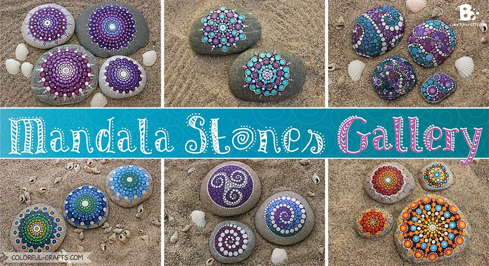 DIY Tutorial Mandala Stones Picture Gallery / Mandala Steine Anleitung ~ colorful.crafts.com