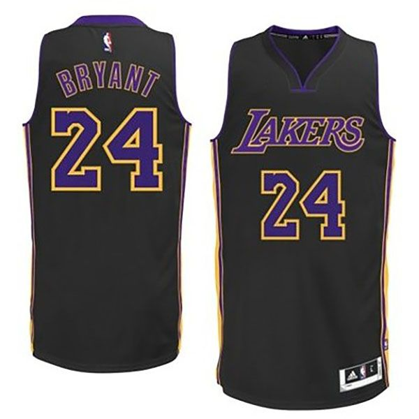 ffdaafca35e Los Angeles Lakers  24 Kobe Bryant Alternate Black Authentic Jersey ...