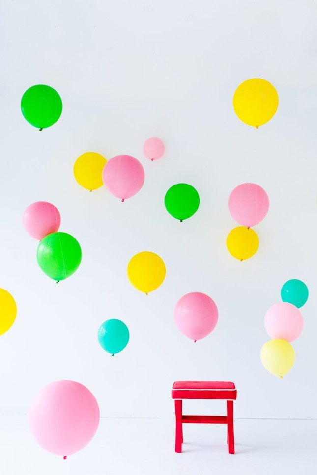 17 Fun Ways to Bring the Balloon Wall Trend to Your Next Party via Brit + Co