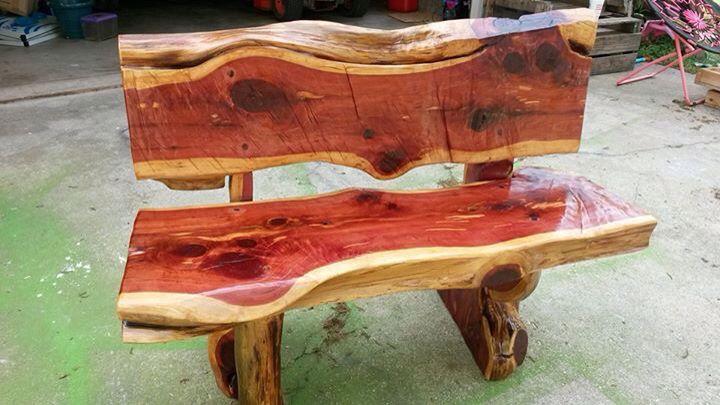 Rustic Cedar Bench Cedar Furniture Cedar Bench Rustic Log Furniture