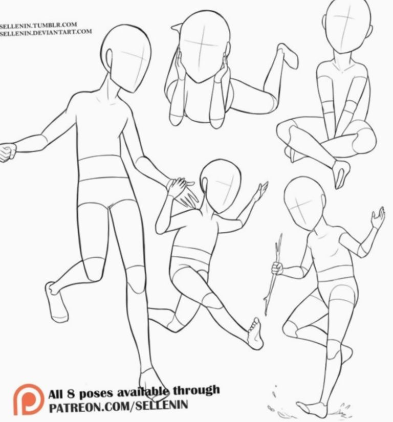 16 Anime Poses Reference Child Baby Drawing Drawing Reference Drawing Body Poses