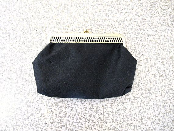 Lovely Black Coin Purse  Mini Clutch  Cigarette Pouch by alacloth, $9.00
