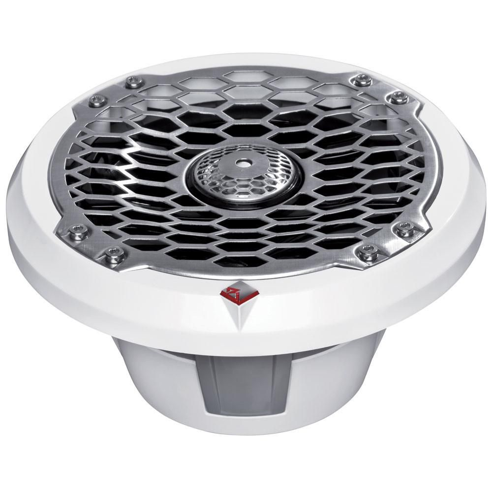 Rockford Fosgate 6.5 Full-Range Coax/Component Speaker - 75W RMS/150W Max - (Pair) Stainless/White #componentspeakers