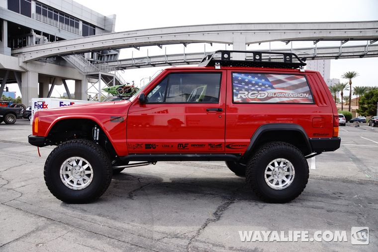 2013 Sema Red Rcd Jeep Xj Cherokee Jeep Xj Jeep Cherokee Jeep