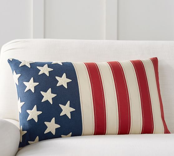 Home Furniture Home Decor Outdoor Furniture Pottery Barn Patriotic Pillow Pillow Covers American Flag Pillow