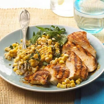 Grilled Chicken And Creamy Corn Diabetic Recipes For