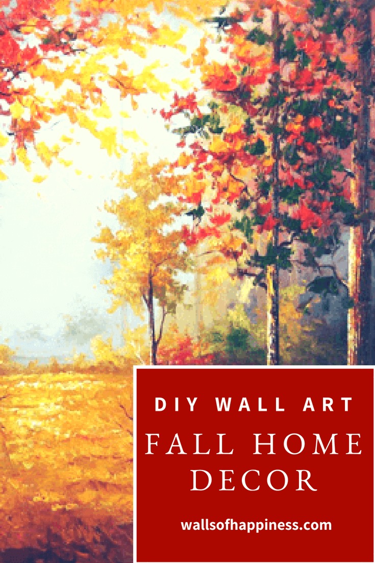 DIY Paint by Numbers Kit - Fall Forest | Wall Art | Pinterest | Room ...
