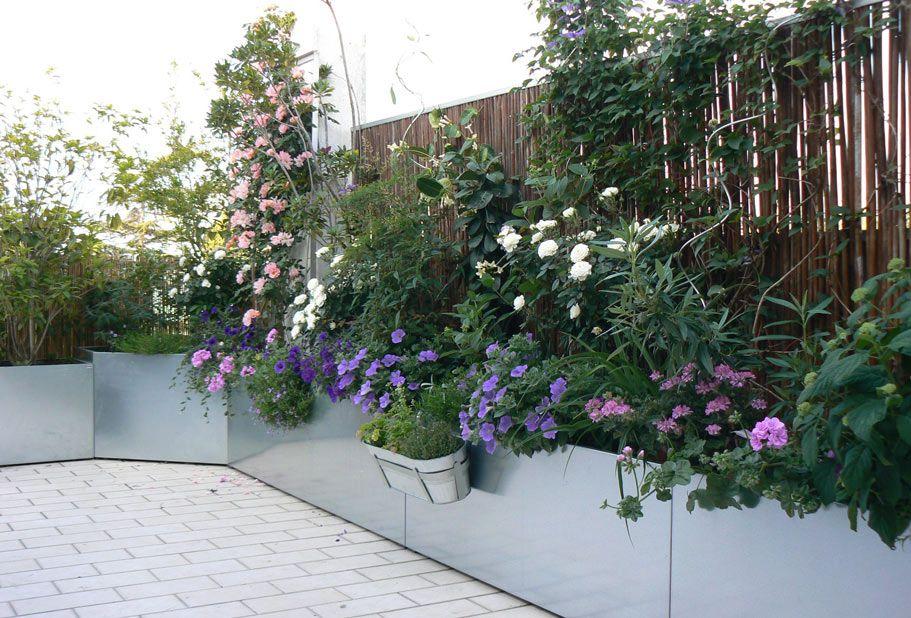 Il mio terrazzo con fioriere zincate nel 2019 terrazzo for Giardino in terrazza
