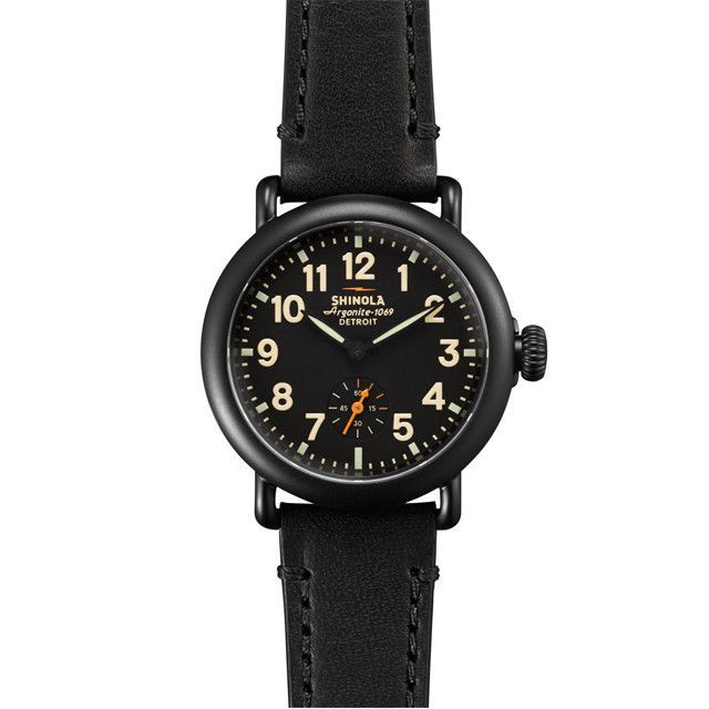 Shinola Runwell Watch | Black Leather with Black