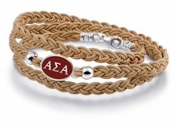 Brown Leather Triple Wrap Bracelet