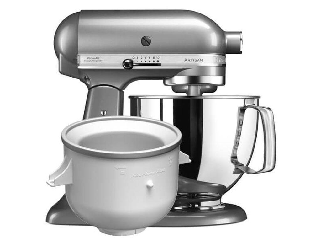 Kitchenaid artisan mixer 125 contour silver ice cream