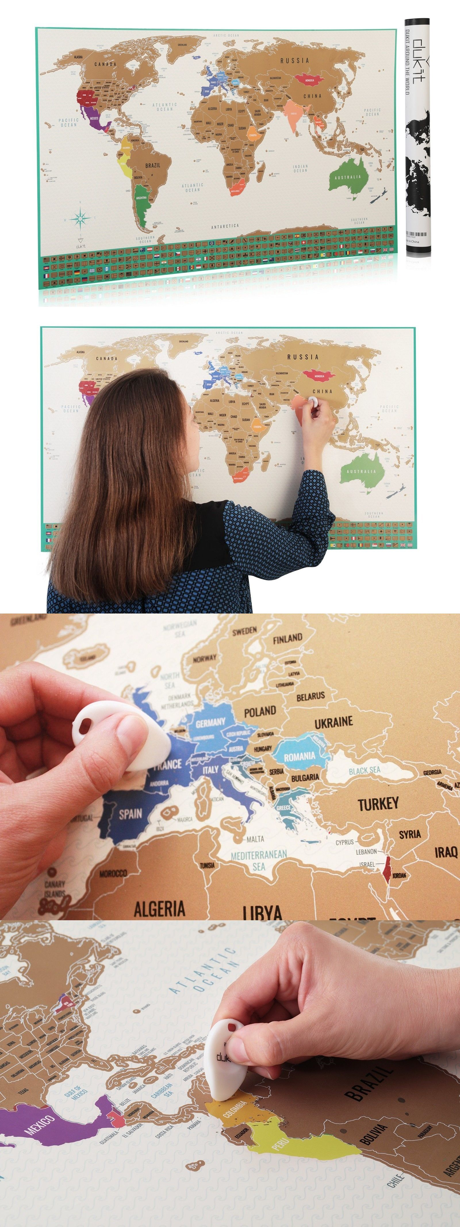 Other travel maps 164807 travel edition scratch off world map other travel maps 164807 travel edition scratch off world map poster personalized journal log deluxe gumiabroncs Images