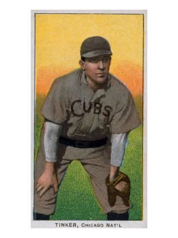 Chicago Il Chicago Cubs Joe Tinker Baseball Cardby