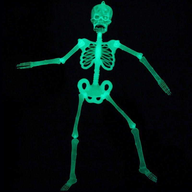 Glow In The Dark Hanging Skeleton Halloween Luminous Decoration ...