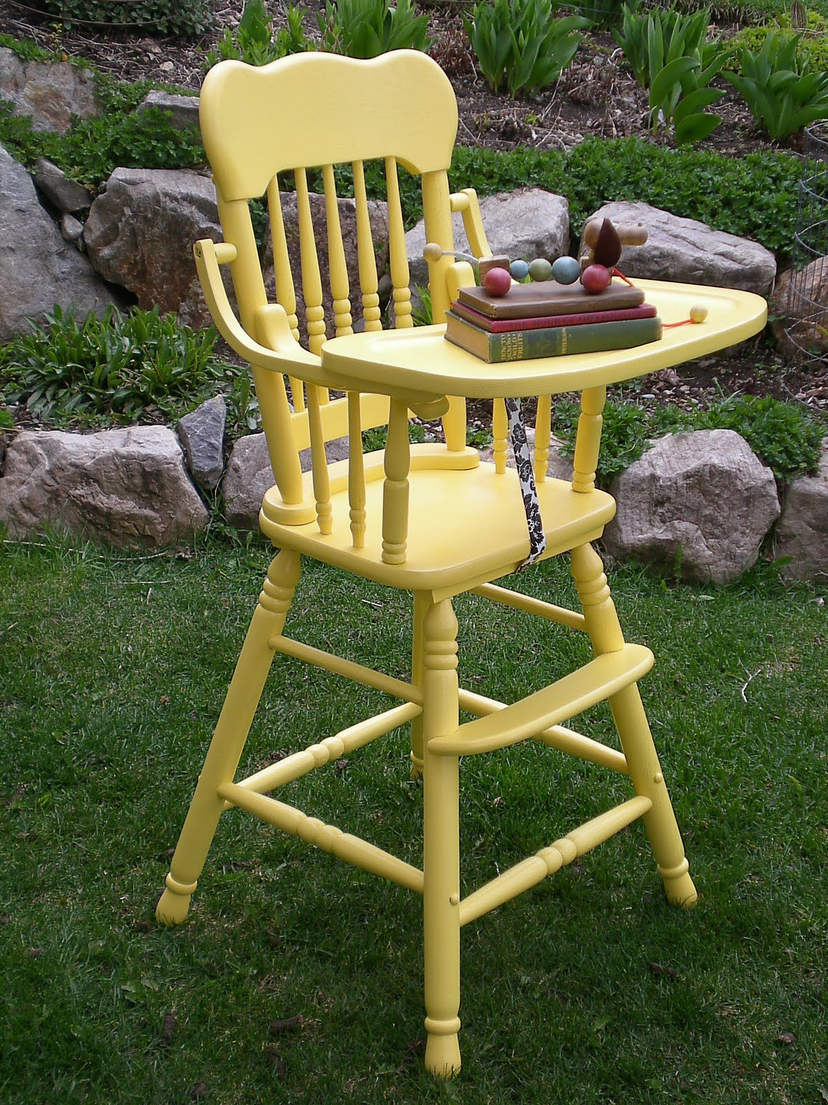 Highchairs like these except with a cute vinyl patterned