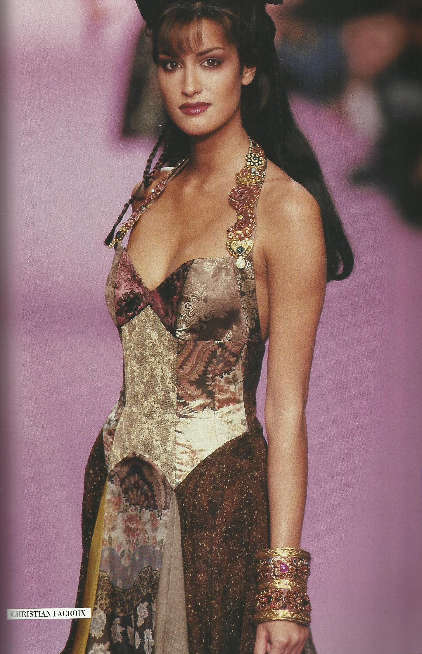 Yasmeen Ghauri Christian Lacriox High Fashion Looks Fashion Clothes Women Fashion