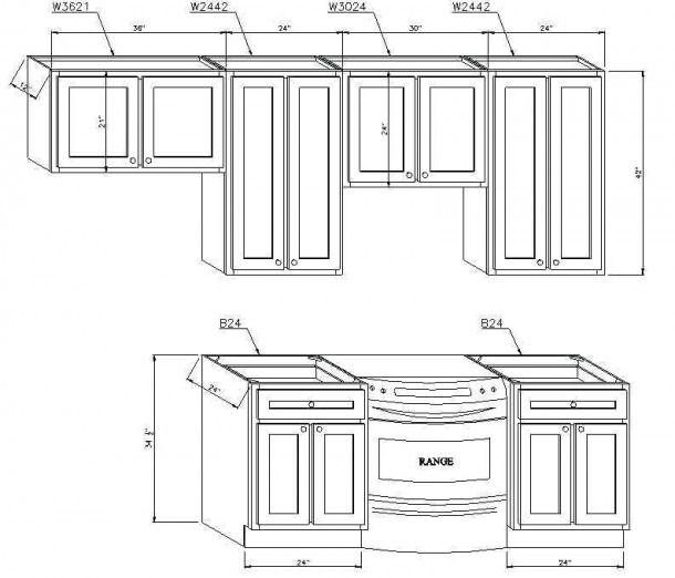 Kitchen Cabinet Dimensions, Average Kitchen Cabinet Size