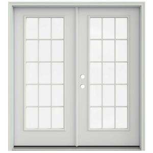 Jeld Wen 72 In X 80 In Primed Steel Right Hand Inswing 15 Lite Glass Stationary Active Patio Door Thdjw205900763 French Doors Patio Patio Doors Interior Balcony