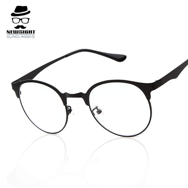 748b201c8656 Fashion Eye Glasses Round Boys Eyes Frame Glass Women Brand Men Vintage  Retro Optical Metal Gradient Frames Scool Nerd 2016 New