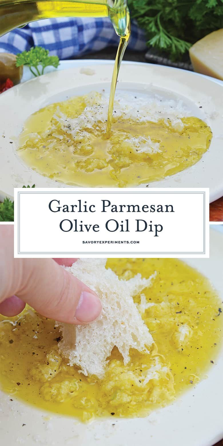 Garlic Parmesan Olive Oil Bread Dip #oliveoils