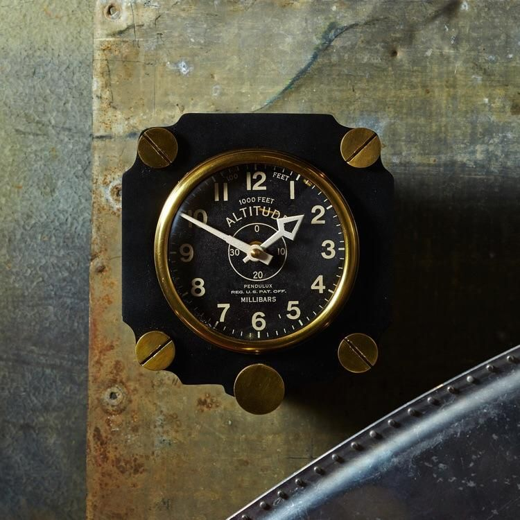 Altimeter Wall Clock Black In 2020 Clock Wall Clock Man Cave Home Bar